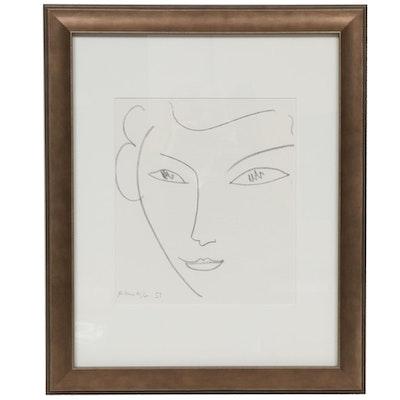 """Henri Matisse Lithograph for """"Derrière le Miroir,"""" 1952"""