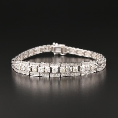 18K White Gold 2.77 CTW Diamond Bracelet