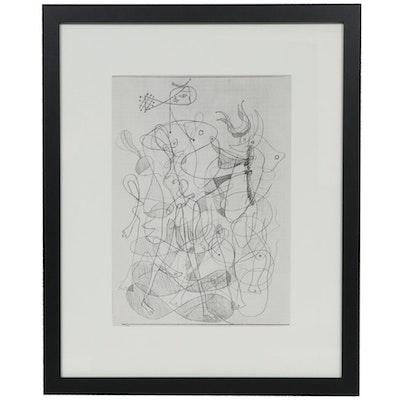 """Halftone Print after Georges Braque for """"Derrière le Miroir,"""" 1954"""
