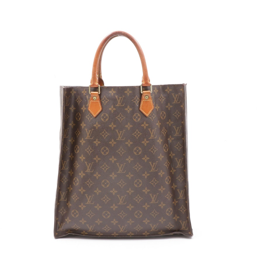 Louis Vuitton Paris Monogram Canvas Sac Plat Tote Bag