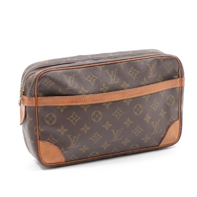 Louis Vuitton Compiegne 28 Toiletry Bag in Monogram Canvas and Leather