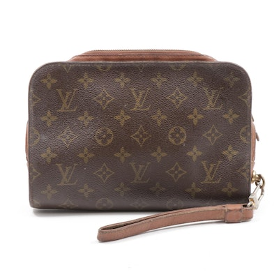 Louis Vuitton Orsay Wristlet in Monogram Canvas and Leather