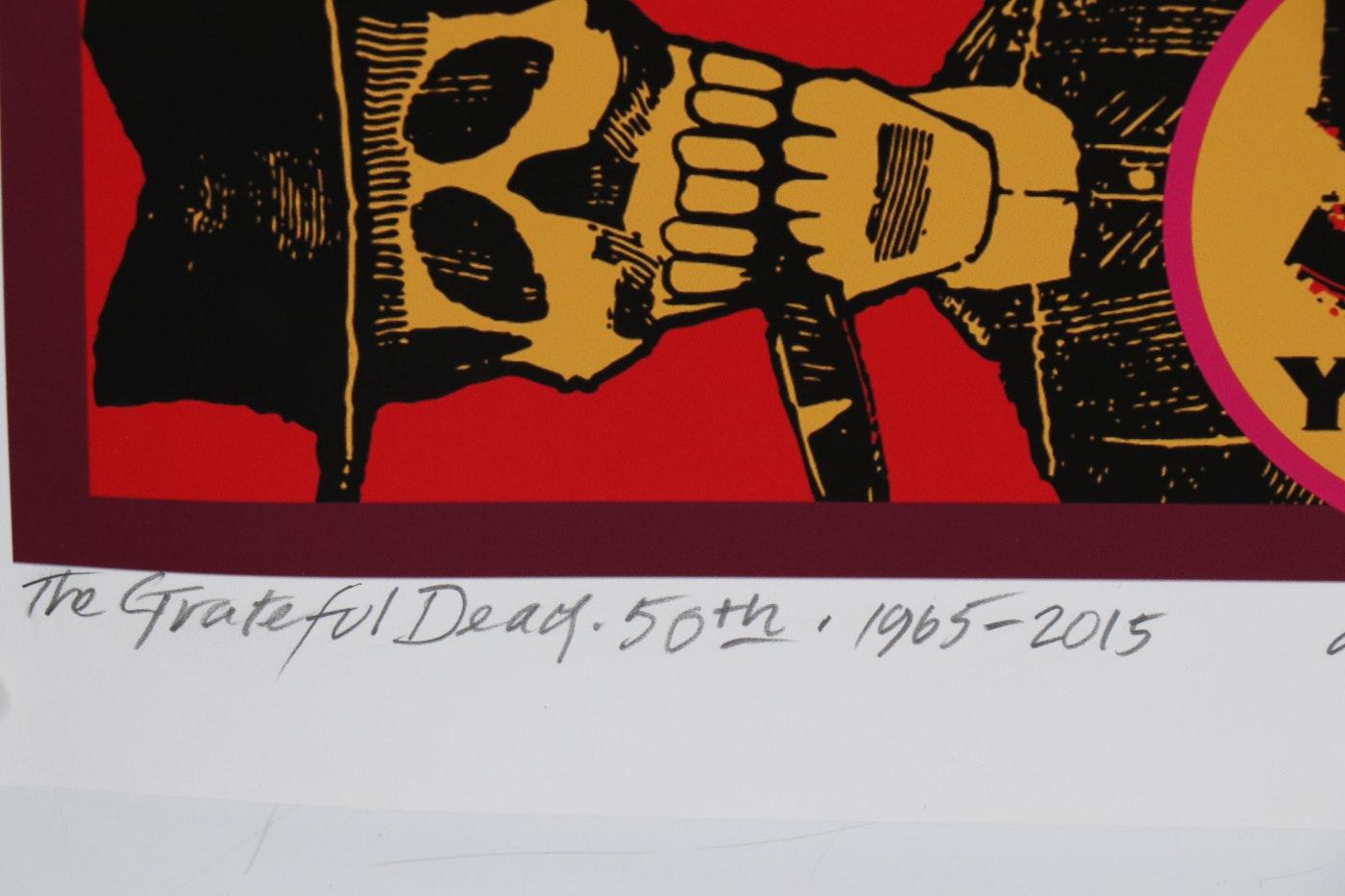David Edward Byrd Giclée Grateful Dead Poster And