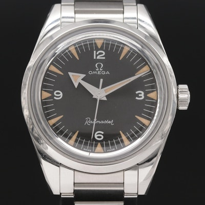 Omega Railmaster 60th Anniversary Limited Edition Stainless Steel Wristwatch