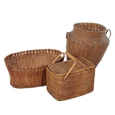 Handcrafted Woven Wicker Baskets