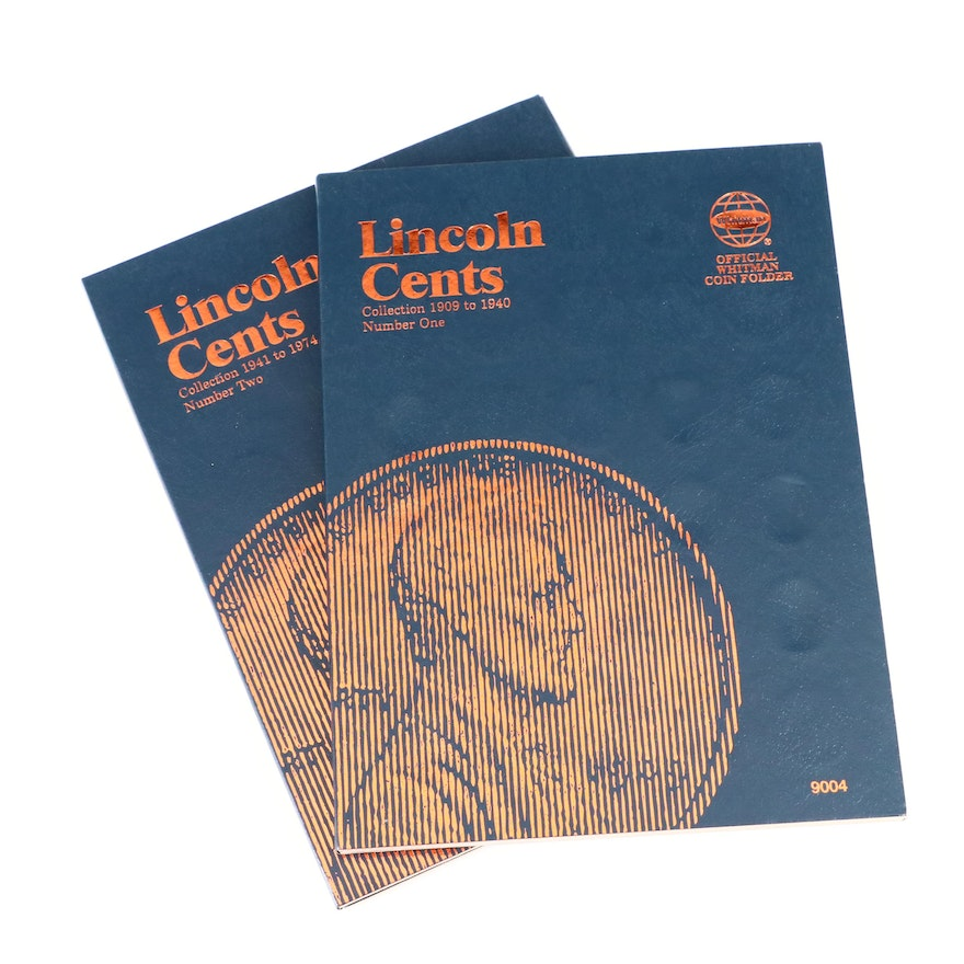 Two Whitman Binders of Lincoln Cents, 1909 to 1971