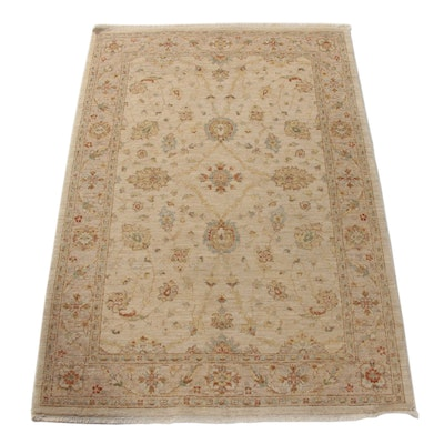 4'1 x 6'2 Hand-Knotted Indo-Persian Tabriz Rug