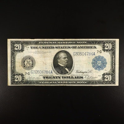 Series of 1914 $20 Federal Reserve Burke/Houston Currency Note