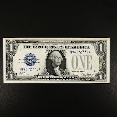"""Series of 1928 $1 """"Funnyback"""" United States Tate/Mellon Silver Certificate"""