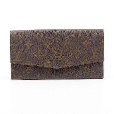 Louis Vuitton Monogram Canvas Long Envelope Wallet