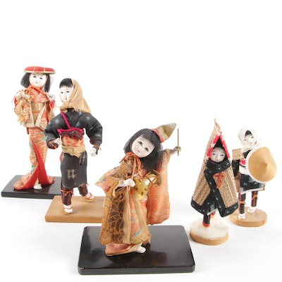 Japanese Hand Crafted Character Dolls, Late 20th Century