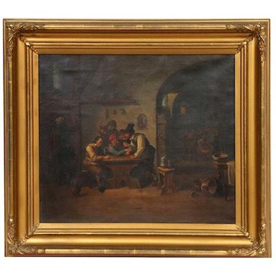 Hermann Brüggemann Dutch Genre Oil Painting, Mid to Late 19th Century