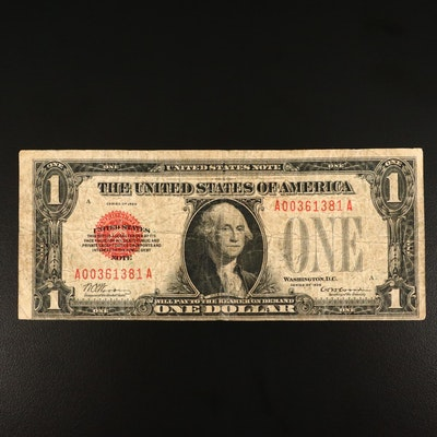 "Series of 1928 $1""Funnyback"" Note"