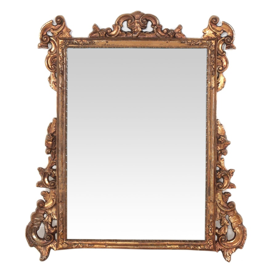 Victorian Style Giltwood Decorative Wall Mirror, Mid to Late 20th Century