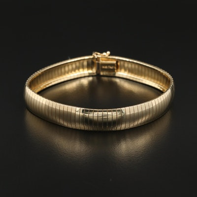 14K Yellow Gold Omega Bracelet