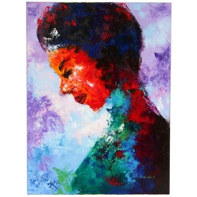 Oluwakemi Omowaire Female Portrait Oil Painting