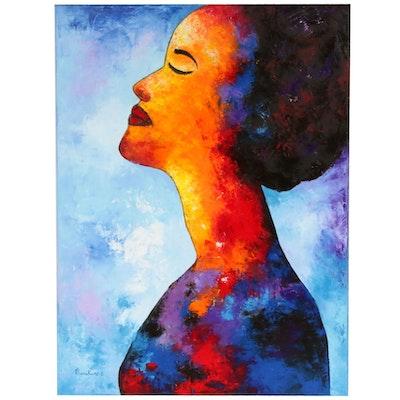 """Oluwakemi Omowaire Oil Painting """"My Soul Sings"""""""