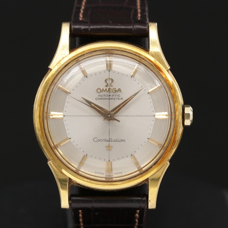 18K Gold Omega Constellation Automatic Wristwatch