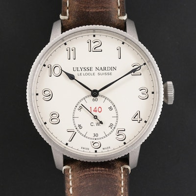 Ulysse Nardin Marine Torpilleur Military Limited Edition Stainless Steel Watch