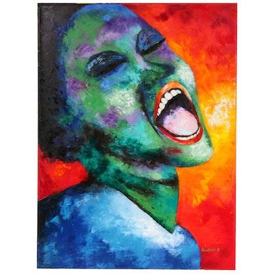 "Oluwakemi Omowaire Oil Painting ""Bitter Sweet"""