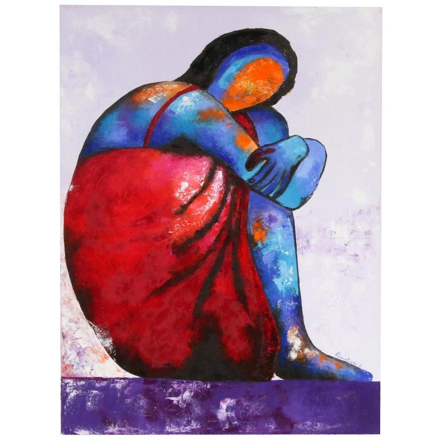 "Oluwakemi Omowaire Oil Painting ""Feelings"""