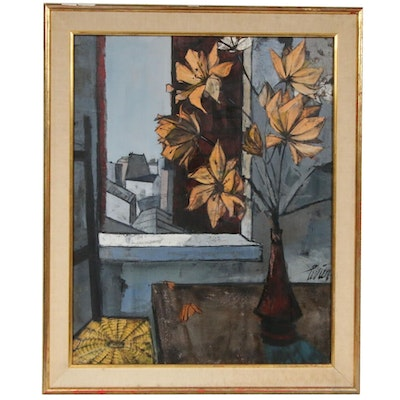 """Charles Levier Oil Painting """"Bouquet"""""""