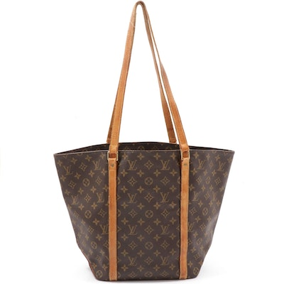 Louis Vuitton Sac Shopping Tote in Monogram Canvas and Leather