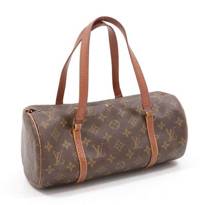Louis Vuitton Paris Papillon 30 Bag in Monogram Canvas and Leather, Vintage