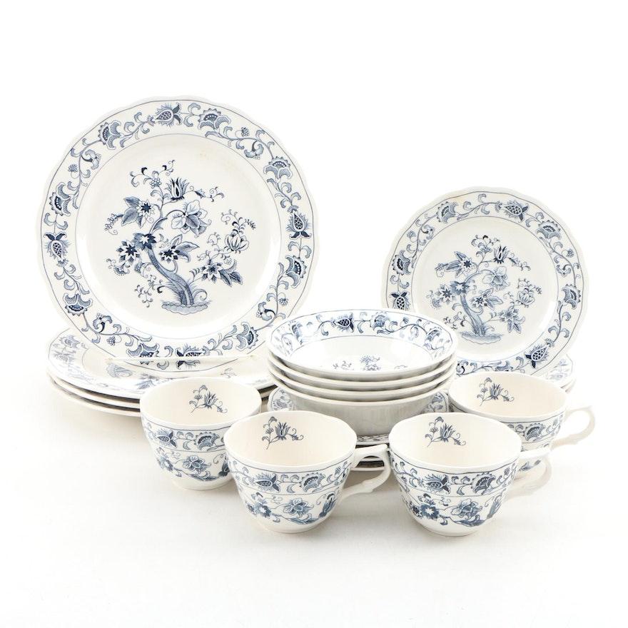 "Nikko ""Ming Tree Blue"" Ceramic Dinnerware"