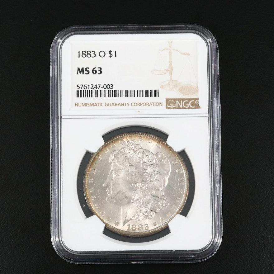 NGC Graded MS63 1883-O Silver Morgan Dollar