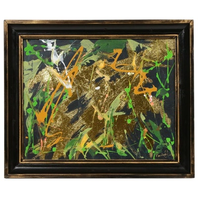 Farshad Lanjani Abstract Mixed Media Painting, 2017