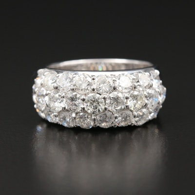 18K White Gold 3.02 CTW Diamond Ring