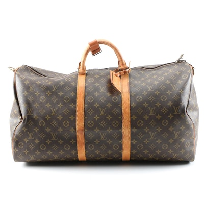Louis Vuitton Keepall 60 in Monogram Coated Canvas and Leather