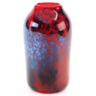 Vic Leo Art Glass Vase, 2000