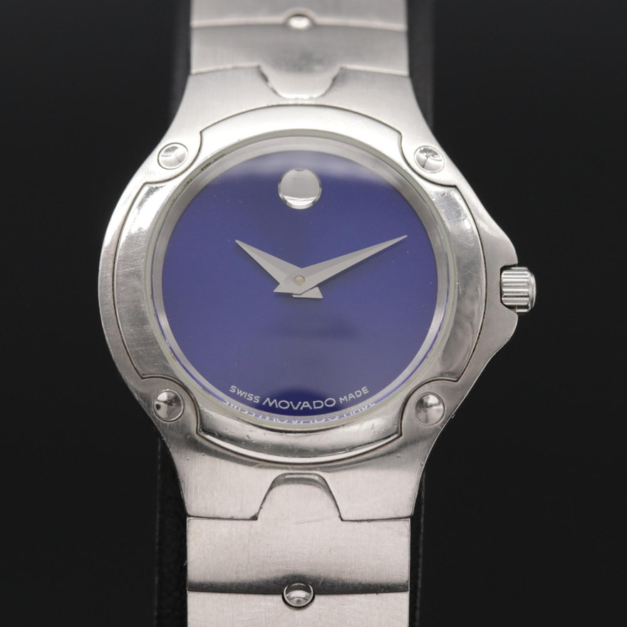Movado Museum Sports Edition Stainless Steel Wristwatch