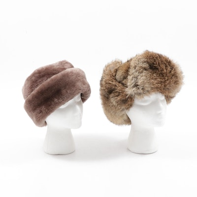 North King Dyed Mouton Lamb and Rabbit Fur Hats