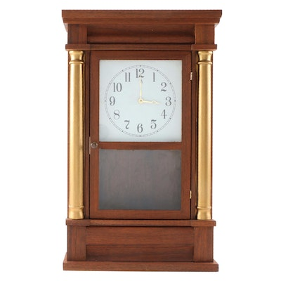 Al Runge Empire Style Hand Crafted  Wooden Table Clock, Late 20th Century