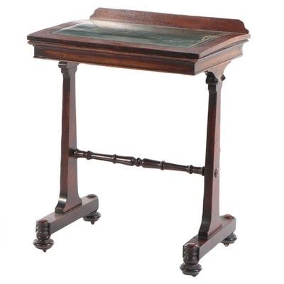 Early Victorian Mahogany Ratchet Top Reading Stand, Mid-19th Century