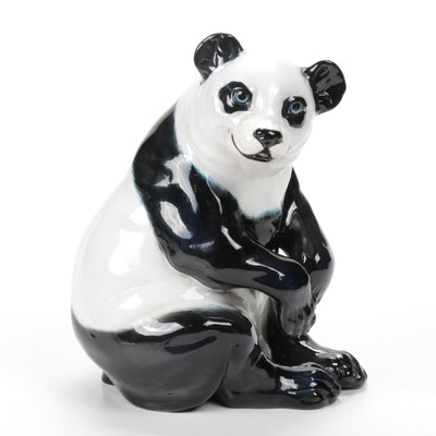Italian Ceramic Panda Figurine