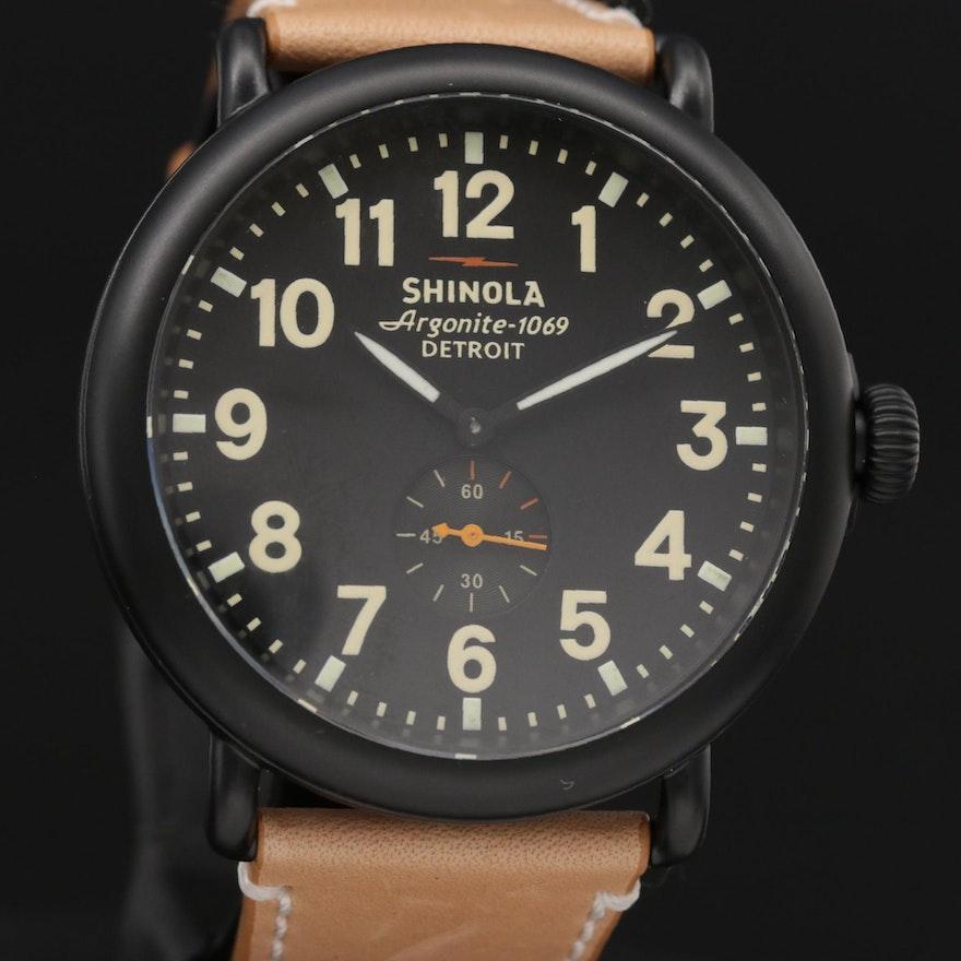 Shinola Runwell Black PVD Stainless Steel Quartz Wristwatch