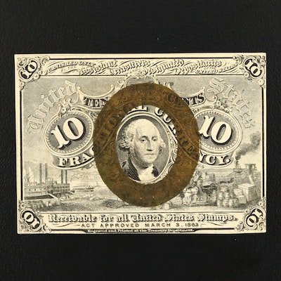 Second Issue 10-Cent Fractional Currency Note from 1863