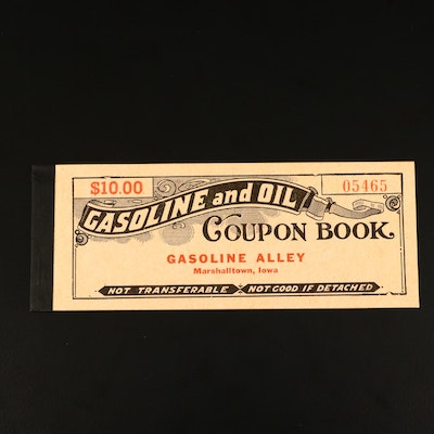 Gasoline and Oil Coupon Book From the 1940s