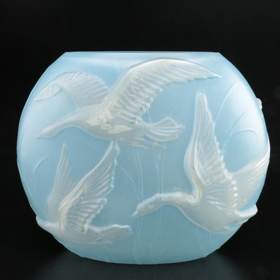 Pheonix Consolidated Sculptured Art Glass Pillow Vase