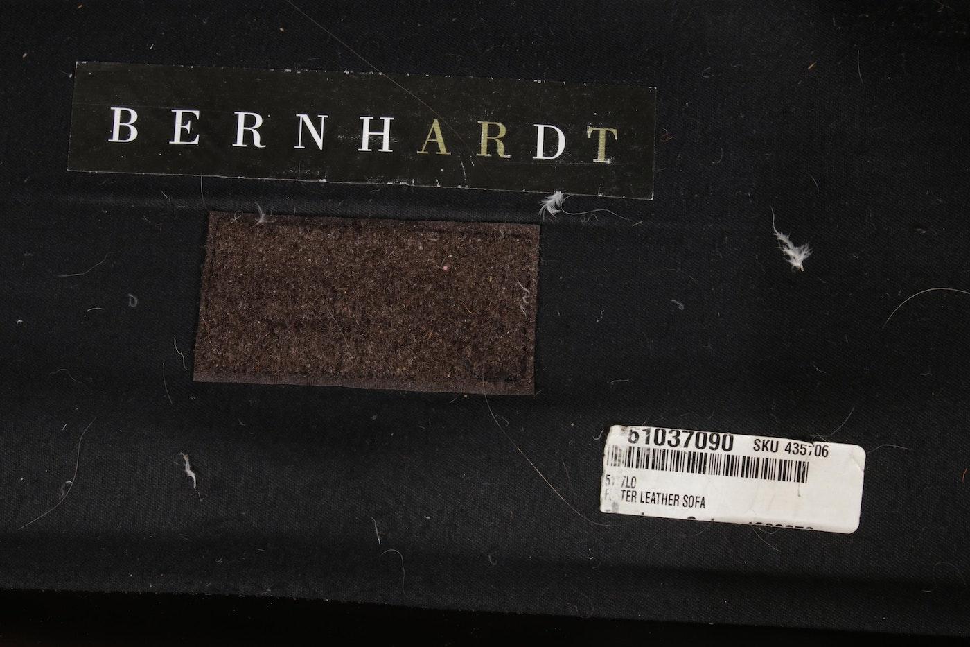 "Bernhardt ""Foster"" Brown Leather Nailhead Trim Sofa | EBTH"