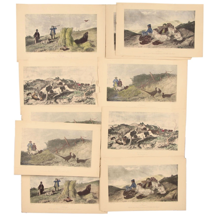 Hand-colored Etchings after Richard Ansdell, Mid 19th Century