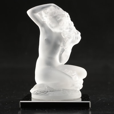 Lalique Frosted Crystal Nude Figurine