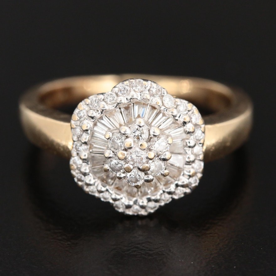14K Yellow Gold 0.54 CTW Diamond Ring