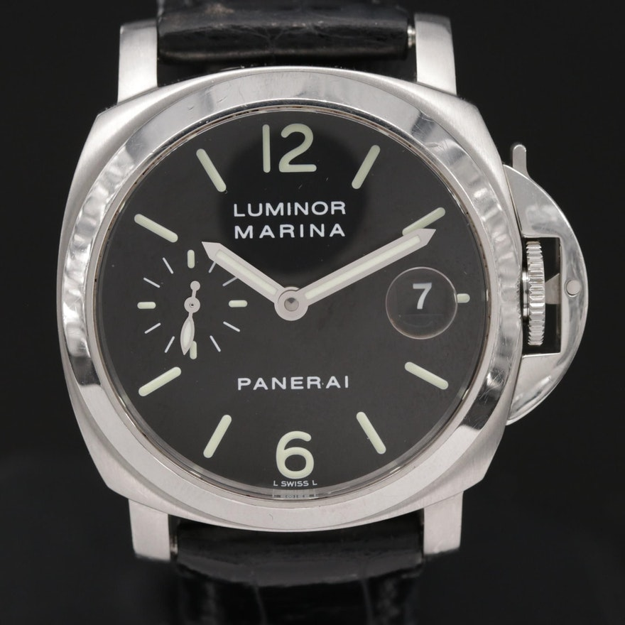 Panerai Luminor Marina PAM48 Stainless Steel Automatic Wristwatch