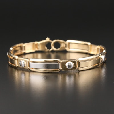 14K Yellow and White Gold Bracelet
