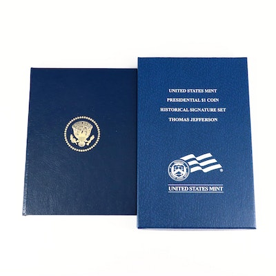 A Presidential Proof Dollar and a Presidential Postal Commemorative Set